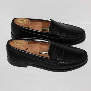Allen Edmonds Cavanaugh black leather Penny Loafer